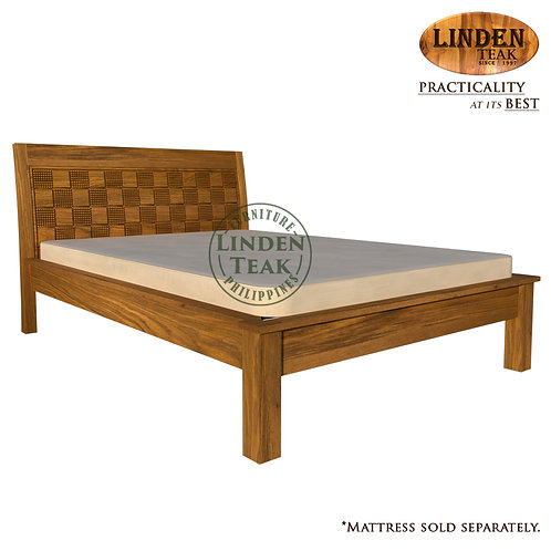 Handcrafted Solid Teak Wood Empatra Hershey Bed Frame Double Size Furniture