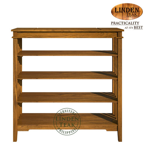 Handcrafted Solid Teak Wood Ohara Shoe Rack Furniture