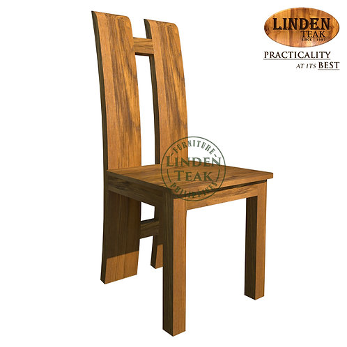 Handcrafted Solid Teak Wood Minimalist Chair Furniture
