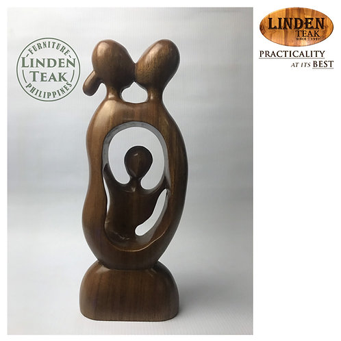 Handcrafted Solid Wood Family Wood Sculpture Decor Figurine