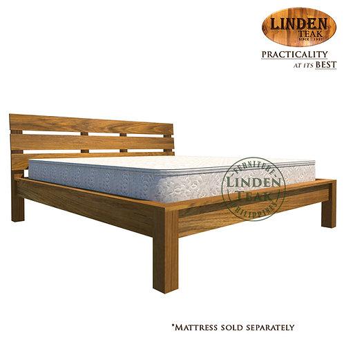 Handcrafted Solid Teak Wood Modern Bed Frame KingSize Furniture