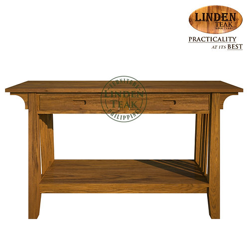 Handcrafted Solid Teak Wood Minimalist Console Table Furniture