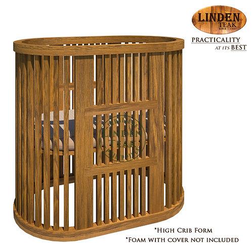 Handcrafted Solid Teak Wood Convertible Adjustable Crib Furniture
