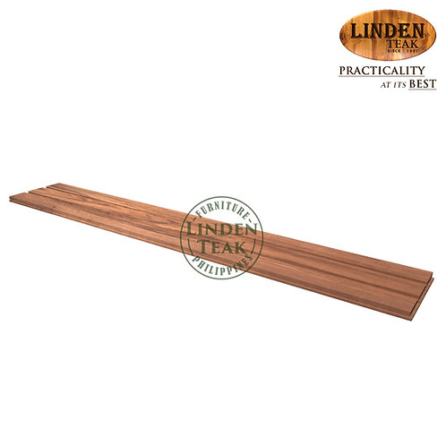 Solid Teak Wood Flooring 120x20x1cm (with one-sided groove)