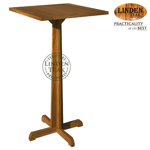 Handcrafted Solid Teak Wood Fax Hall-80 Square Bar Table Furniture