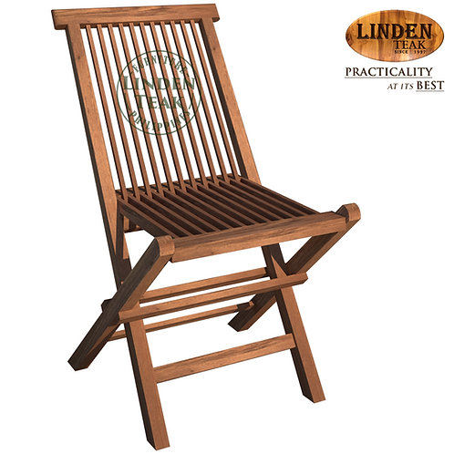 Handcrafted Solid Teak Wood ECO Folding Chair Furniture (Not for heavy use)