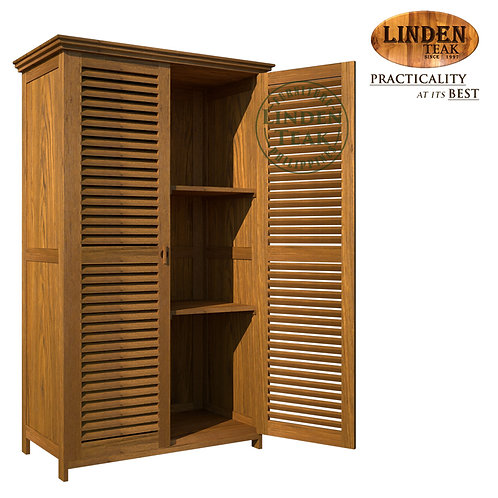 Handcrafted Solid Teak Wood Armoire Wardrobe Furniture
