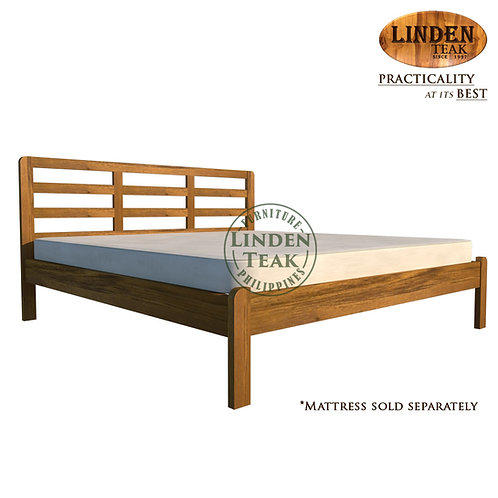 Handcrafted Solid Teak Wood Simple Bed Frame Queen Size Furniture