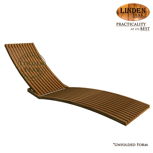Handcrafted Solid Teak Wood Lazy Pool Chair Furniture