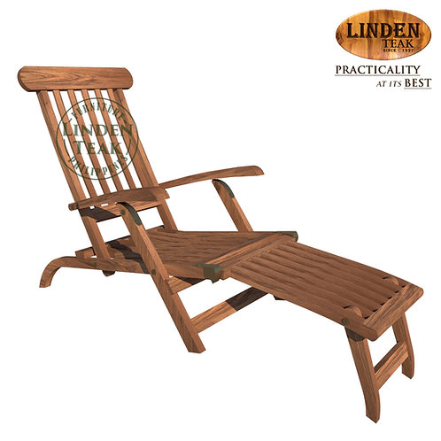 Handcrafted Solid Teak Wood ECO Steamer Lounge Chair Furniture