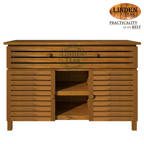 Handcrafted Solid Teak Wood Small Kitchen Buffet Furniture