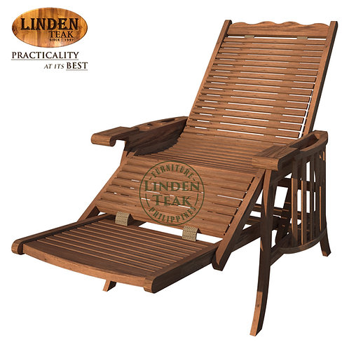 Handcrafted Solid Teak Wood ECO Lazy Boy Lounge Chair Furniture
