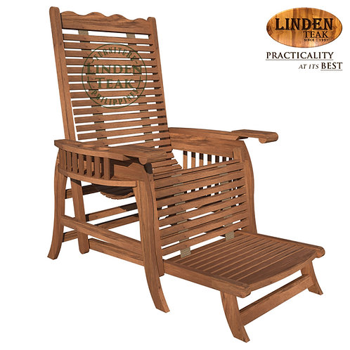 Handcrafted Solid Teak Wood ECO Lazy Boy with Foot Rest Lounge Chair Furniture