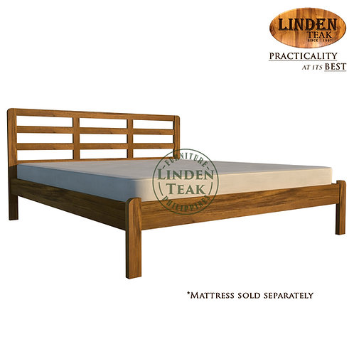 Handcrafted Solid Teak Wood Simple Bed Frame King Size Furniture