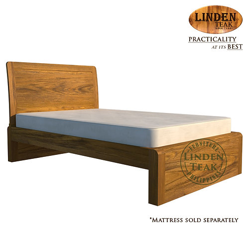 Handcrafted Solid Teak Wood Ohara Bed Frame Twin Size Furniture