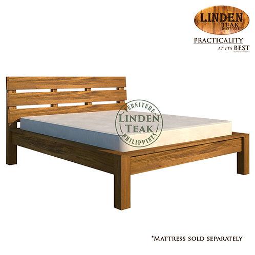 Handcrafted Solid Teak Wood Modern Bed Frame Queen Size Furniture