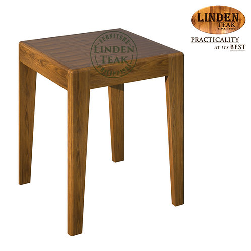 Handcrafted Solid Teak Wood New Vienna 1 Seater Stool (38 x 38 cm) Furniture
