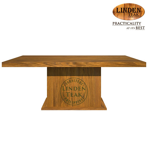 Handcrafted Solid Teak Wood Rectangular Center Support Table Furniture