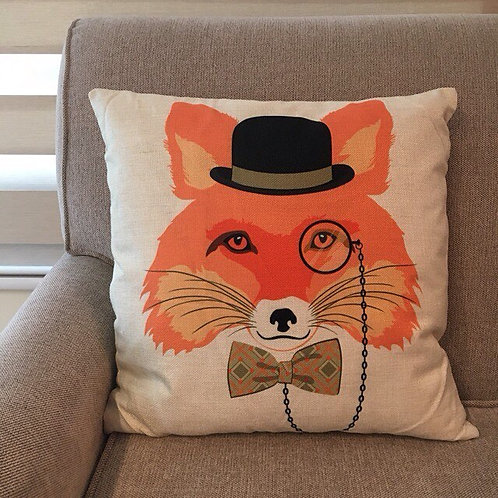 RIFU Mr. Fox and Bowtie Pillow with Filler
