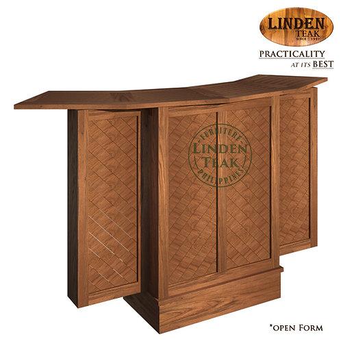 Handcrafted Solid Teak Wood ECO Diagonal Bar Counter Furniture