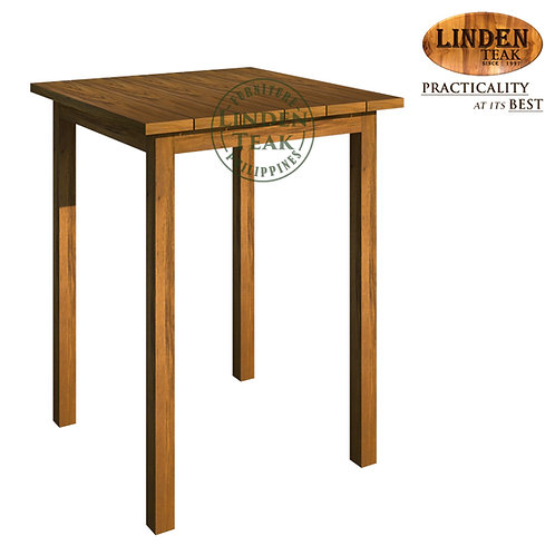 Handcrafted Solid Teak Wood Arifin 60 x 60 x 77 cm Dining Table Furniture