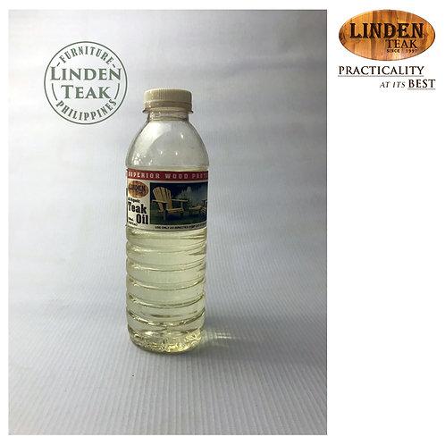 Linden Teak All Organic Teak Oil 330mL for Natural Outdoor Furniture Maintenance
