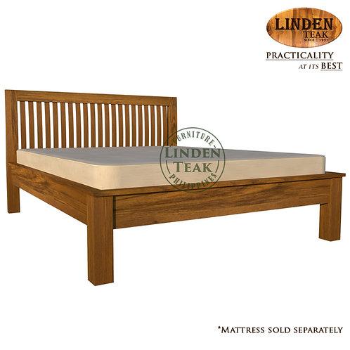 Handcrafted Solid Teak Wood Jari Bed Frame Queen Size Furniture
