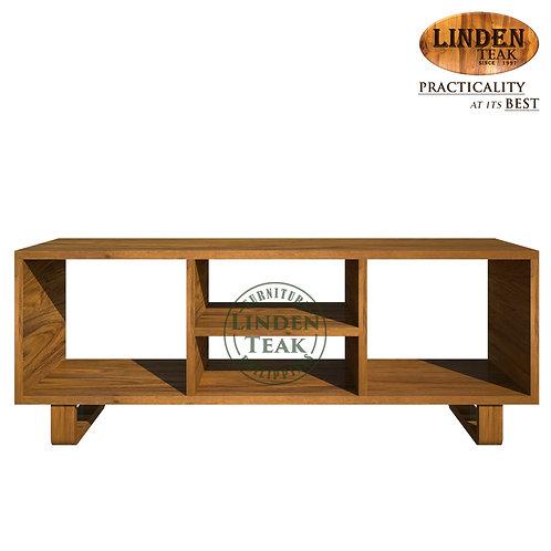 Handcrafted Solid Teak Wood Open TableRackFurniture