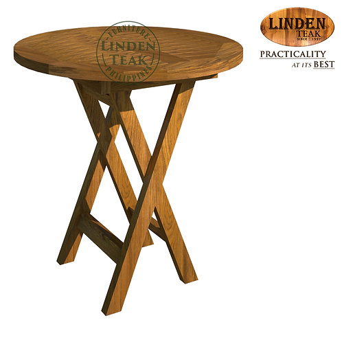 Handcrafted Solid Teak Wood MINISalur Round Table Furniture