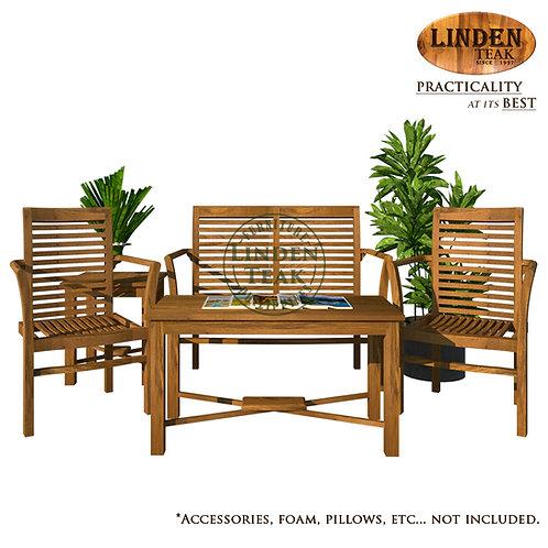 Handcrafted Solid Teak Wood GT Stacking Sofa Set Furniture