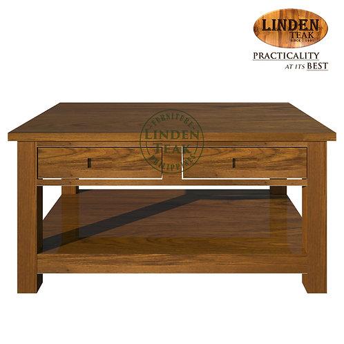 Handcrafted Solid Teak Wood Big Minimalist Center Table Furniture