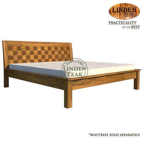 Handcrafted Solid Teak Wood Empatra Hershey Bed Frame King Size Furniture