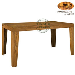 Handcrafted Solid Teak Wood Ohara Modern Leg-153 Dining Table Furniture