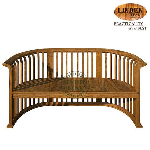 Handcrafted Solid Teak Wood Basket 2 Seater Sofa Furniture