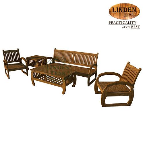 Handcrafted Solid Teak Wood Sedan Old Sofa Set Furniture