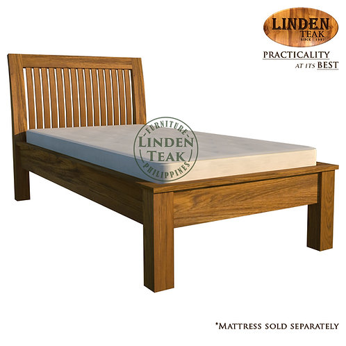 Handcrafted Solid Teak Wood Jari Bed Frame Single Size