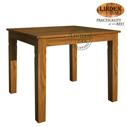 Handcrafted Solid Teak Wood Fixblock Dining Table 100x90x77cm Furniture