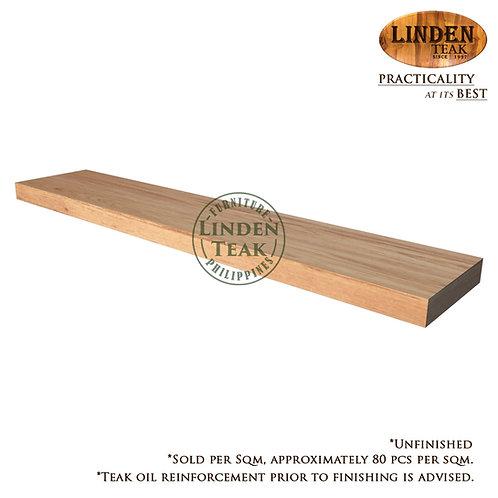 Solid Teak Wood Small Teak Wood 25 x 5 x 1cm (sold per sqm)