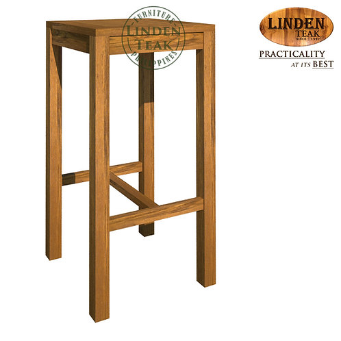 Handcrafted Solid Teak Wood Garden Bar Chair without BackFurniture