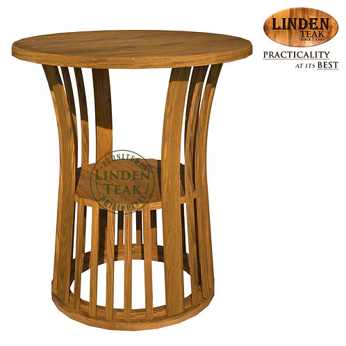 Handcrafted Solid Teak Wood Basket-60 Dining Table Furniture