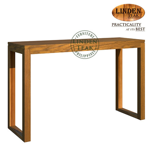 Handcrafted Solid Teak Wood Hotel Console Table without Shelf Furniture