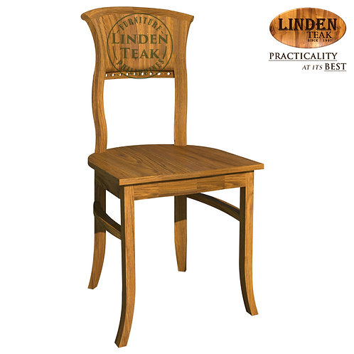 Handcrafted Solid Teak Wood Kipas Dining Chair without Arm Furniture