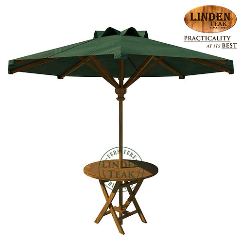 Handcrafted Solid Teak Wood GTFixed RoundTable w/ Foldable UmbrellaFurniture