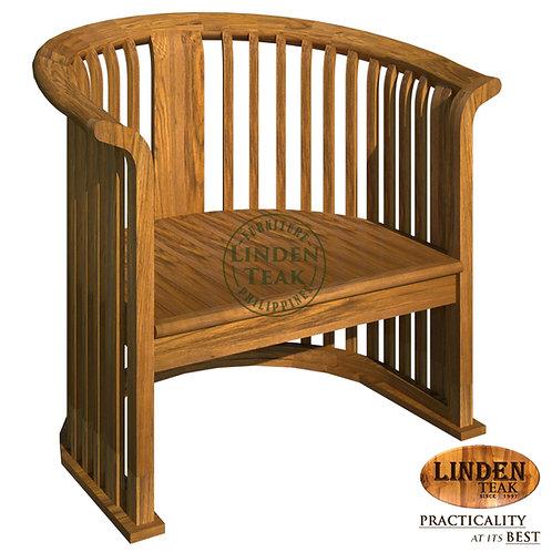 Handcrafted Solid Teak Wood Basket 1 Seater Sofa Furniture