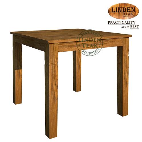 Handcrafted Solid Teak Wood Fixblock-90 Dining TableFurniture
