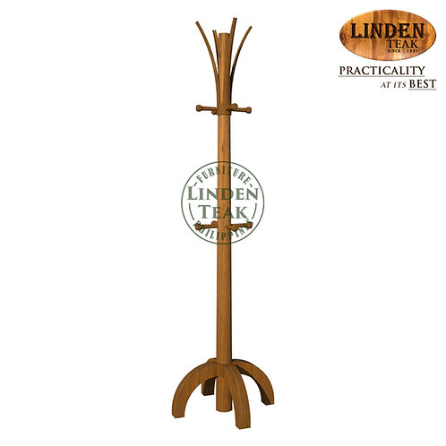 Handcrafted Solid Teak Wood Coat Hanger Furniture
