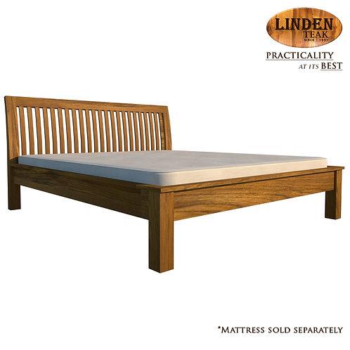 Handcrafted Solid Teak Wood Jari Bed Frame King Size
