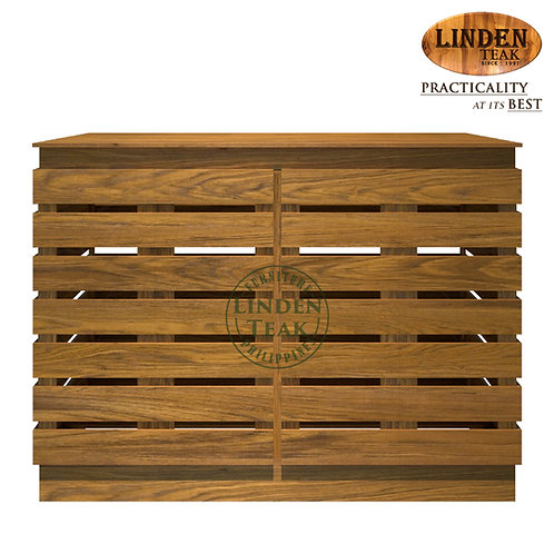 Handcrafted Solid Teak Wood Slotted Organizer Furniture