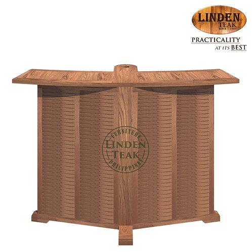 Handcrafted Solid Teak Wood ECO Bar TablewithHole Furniture (NO UMBRELLA)