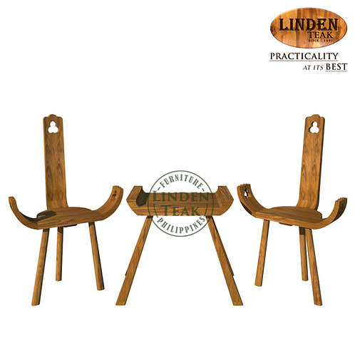 Handcrafted Solid Teak Wood Pancing Set Furniture